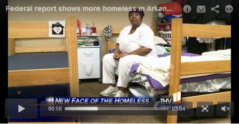 Federal Report Shows More Homeless in Arkansas