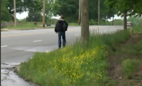 Walkers Hope for Sidewalk Along Dangerous Road
