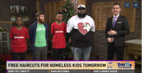 Arkansas barbershop, Our House providing free hair cuts to homeless children